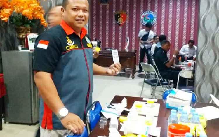 Kasat Resnarkoba Polres Barito Utara, Iptu Adhy Heriyanto.