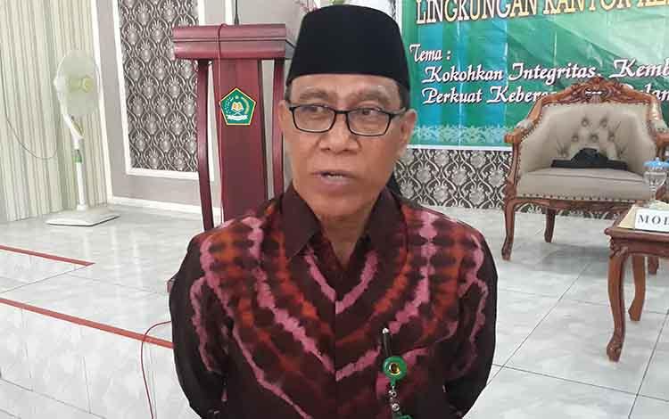 Kepala Kemenag Kapuas H Ahmad Bahruni menyampaikan harapannya pada pelaksanaan penjaringan petugas penyelenggaraan ibadah haji.