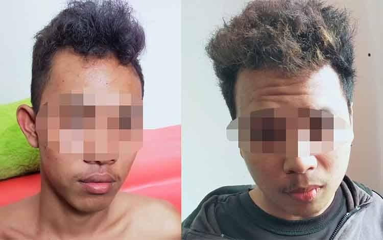 Dua orang pelaku penusukan yang diringkus Polsek Baamang, Senin, 27 Januari 2020.