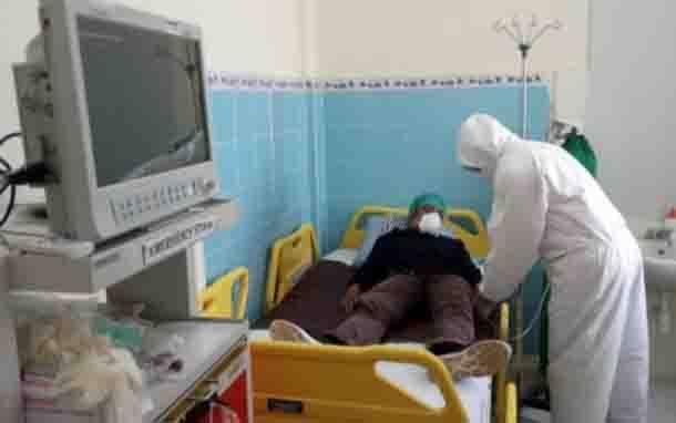 Simulasi penanganan pasien suspek virus corona di Kotawaringin Barat, Jumat, 31 Januari 2020.