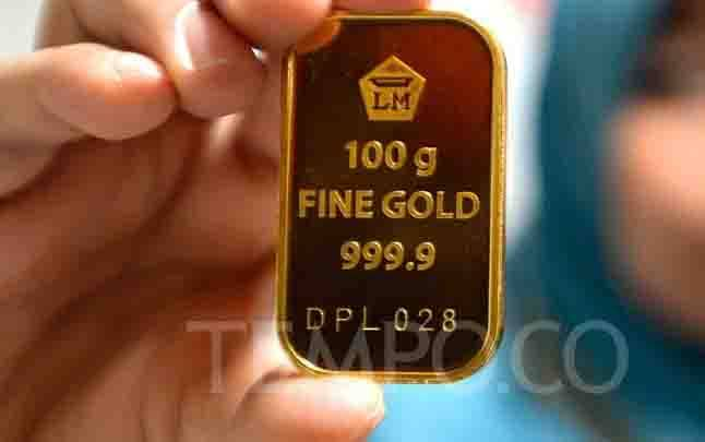 Ilustrasi emas batangan. (foto : tempo.co)