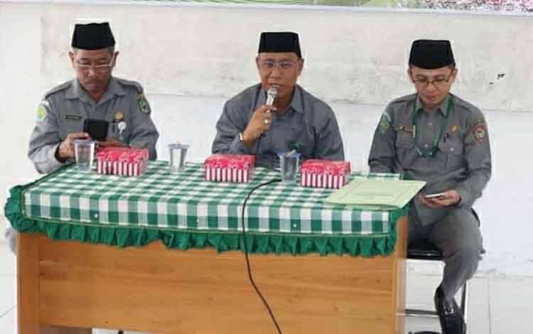 Kepala Kemenag Kapuas Ahmad Bahruni berharap dari sistem CAT dapat jaring petugas haji profesional