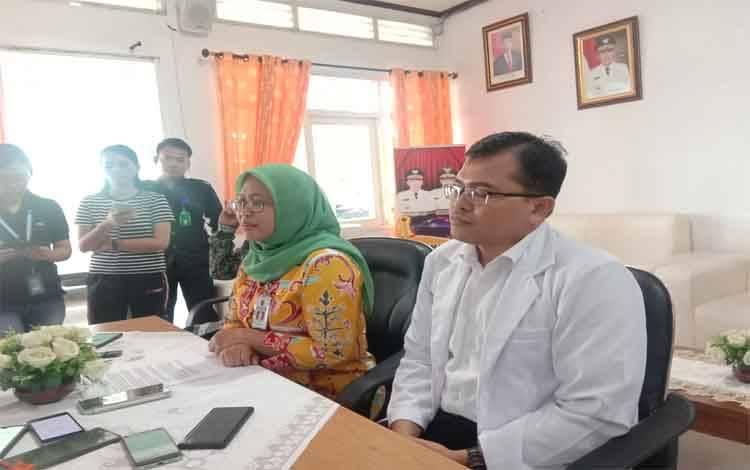 Direktur RSUD Doris Sylvanus Palangka Raya, Yayu Indryati saat merilis terkait dugaan pasien Corona, Jumat 14 Februari 2020