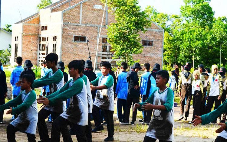 Kegiatan Jelajah Medan Pramuka Penggalang atau JMPP Cup 2020 Kota Palangka Raya yang dilaksanakan di SMK Karsa Mulya pada Sabtu, 15 Februari 2020.