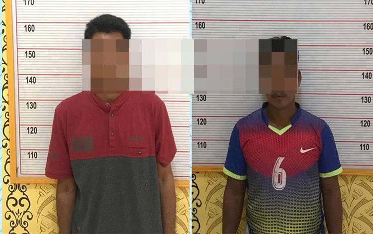 Dua pencuri buah sawit milikPT. BJAP 2 diamankan Polsek Aruta, Polres Kobar.