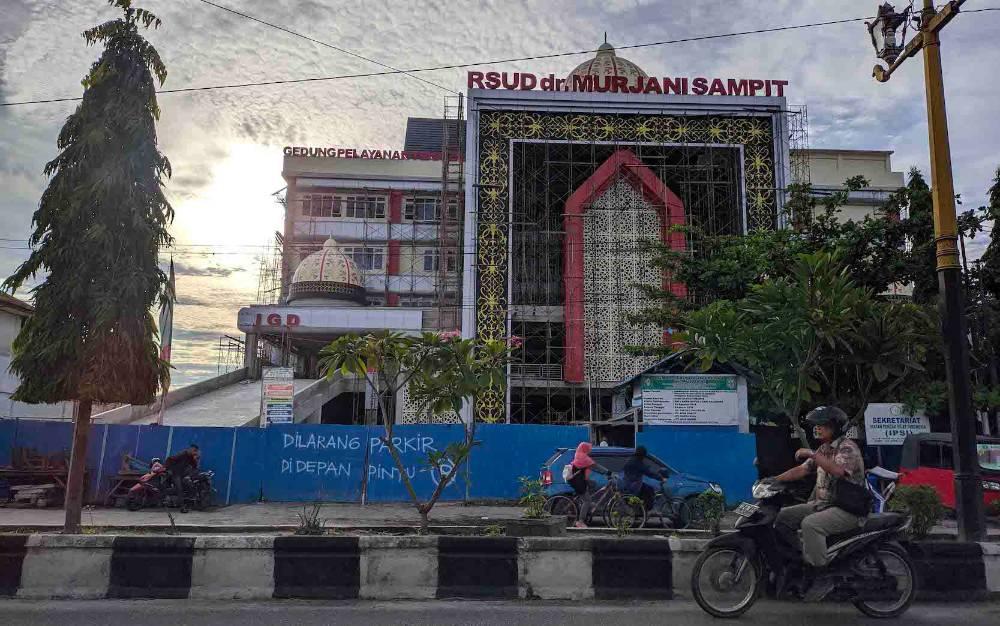 Proyek pembangunan RSUD dr Murjani Sampit.