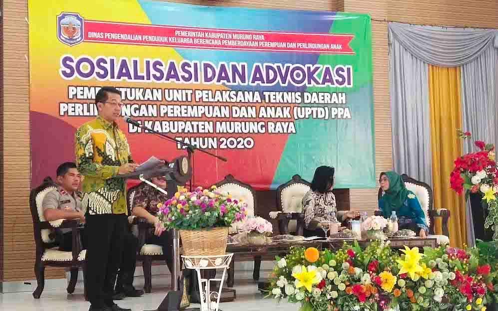 Sosialisasi dan Advokasi Pembentukan UPTD PPA di Murung Raya, Kamis, 20 Februari 2020.