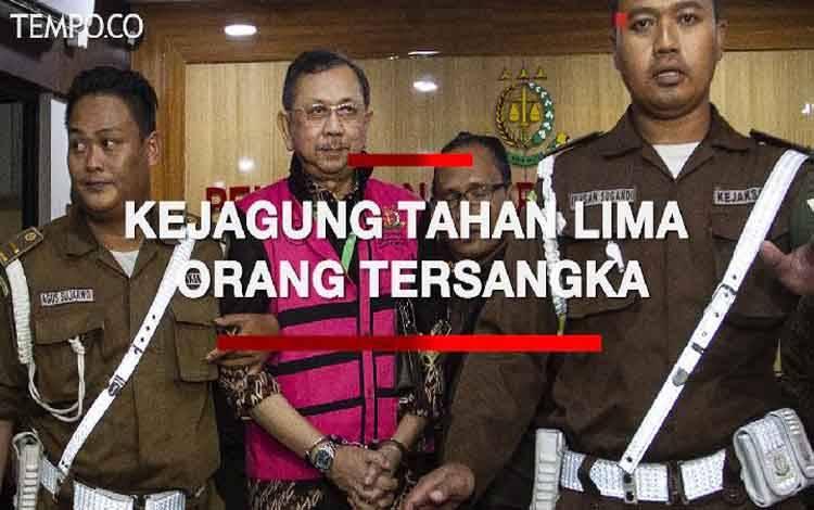 Kejaksaan Agung tahan lima orang tersangka dalam kasus Jiwasraya