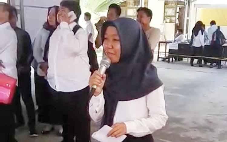 Maya Hartono, peserta yang meraih nilai 424 yakni tertinggi pada tes SKD CPNS Barito Timur.