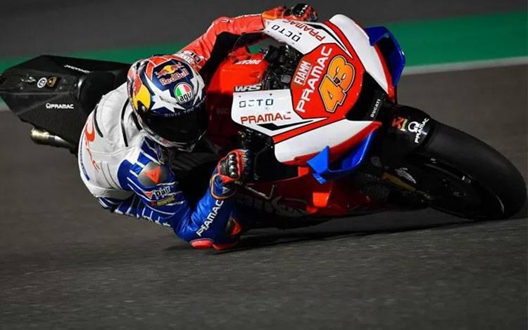 Pebalap tim Pramac Racing Jack Miller menjalani tes pramusim di Sirkuit Losail, Qatar, Sabtu (23/2/2020) (MotoGP.com)