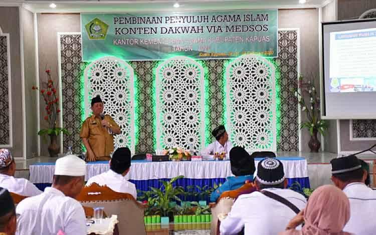 Kepala Dinas Kominfo Kapuas Junaidi ajak penyuluh agama optimalisasi medsos pada Senin, 24 Februari 2020