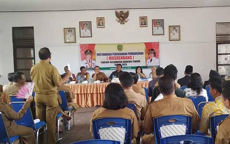 Musrenbang Kecamatan Kahayan Tengah, Senin 24 Februari 2020.