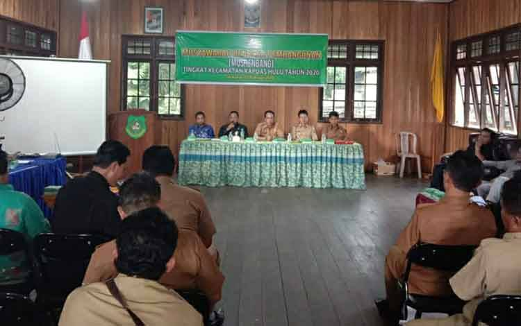 Suasana saat Musrenbang Kecamatan Kapuas Hulu pada Selasa, 25 Februari 2020.
