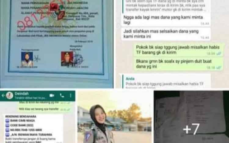 Nama Dan Foto Polwan Polres Kobar Dicatut Pelaku Penipuan Online
