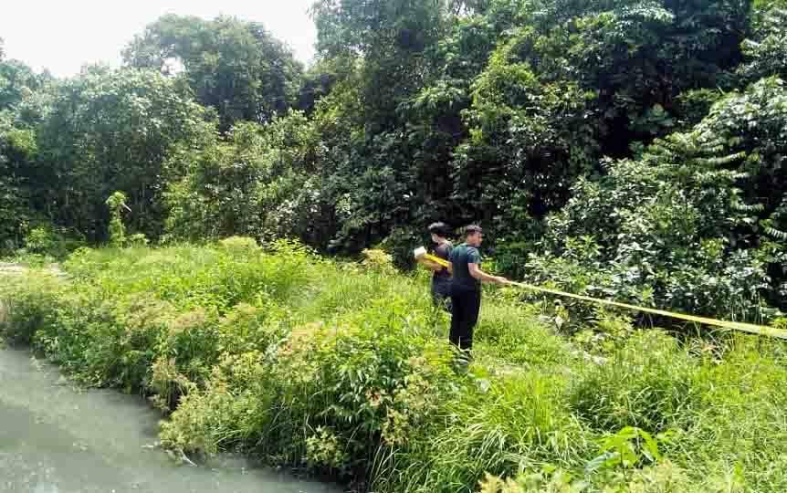 Garis polisi dipasang di kawasan PT Kahayan Berseri, Kabupaten Pulang Pisau.