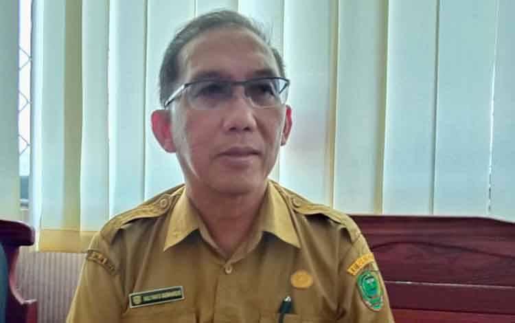 Plt Direktur RSUD Pulang Pisau, dr Muliyanto Budihardjo saat memberikan penjelasan terkait bayi yang diduga ditolak saat ingin rawat inap di rumah sakit tersebut, Rabu, 26 Febuari 2020.