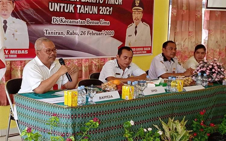 Kepala Dinas Pertanian dan Peternakan Kabupaten Barito Timur Riza Rahmadi saat memaparkan program Kementerian Pertanian.