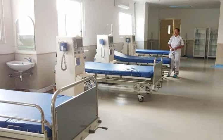 ruang cuci darah yang ada di RSUD Muara Teweh.