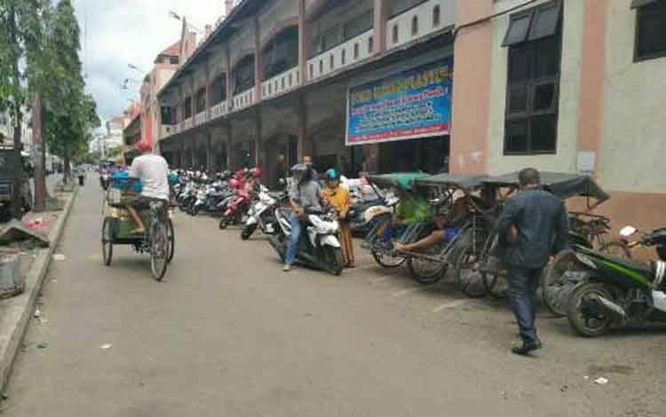 Kawasan pasar PPM Sampit.