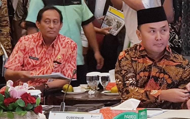 Gubernur Kalteng Sugianto Sabran memaparkan usulan program pembangunan ke pusat, Selasa, 3 Maret 2020.