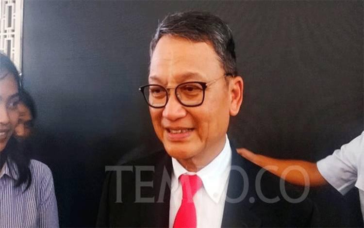 Menteri ESDM Arifin Tasrif seusai serah terima jabatan, Rabu, 23 Oktober 2019. (TEMPO/Eko Wahyudi)