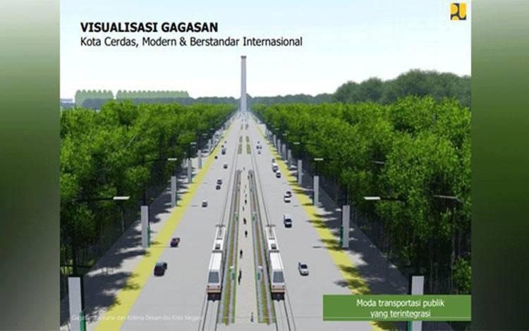 Rancangan konsep Ibu Kota baru di Kalimantan. Foto: Dok. Kementerian PUPR