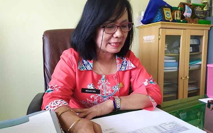 Kepala Disnaker Kota Palangka Raya, Mesliani Tara.