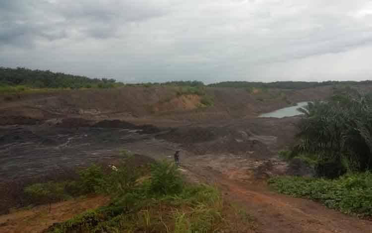 Lokasi Pertambangan PT Maslapita yang diakui telah tukar guling atau tukar lahan di tengah-tengah HGU milik PT Bhadra Cemerlang, Kecamatan Patangkep Tutui.