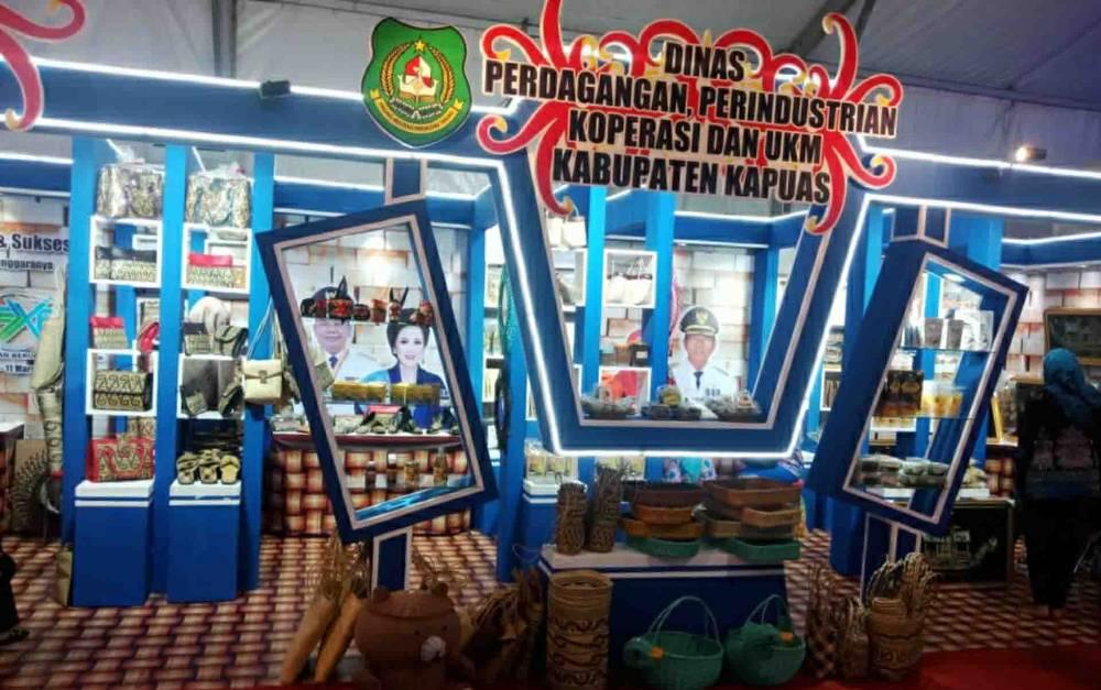 Stan Kabupaten Kapuas di Kalteng Trade Expo 2020.