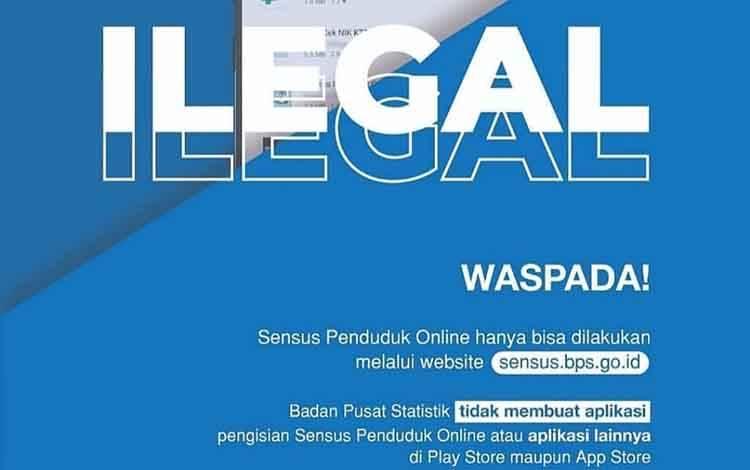 BPS Kobar mengimbau masyarakat agar waspada aplikasi Ilegal sensus penduduk.