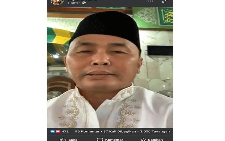 Gubernur Kalteng Sugianto Sabran siaran langsung tentang Virus Corona di Kalteng, Jumat, 20 Maret 2020.