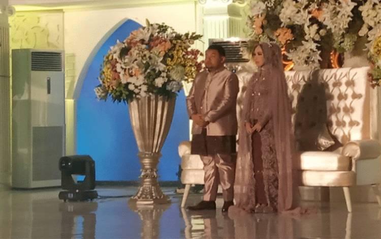 Pasangan Jemmy Adriyanor dan Nicky Pitaloka menggelar resepsi pernikahan, Sabtu, 21 Maret 2020.