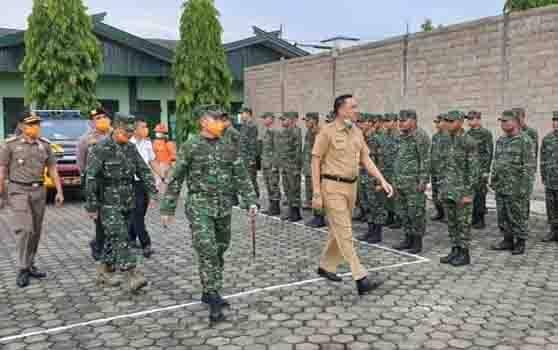 Apel persiapan penyemprotan disinfektan massal di Kotim 1012 Buntok, Barito Selatan, Rabu, 25 Maret 2020.