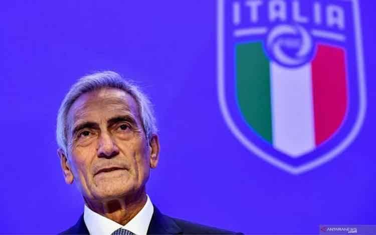 Gabriele Gravina. ANTARA/AFP/Alberti PizzoliI.