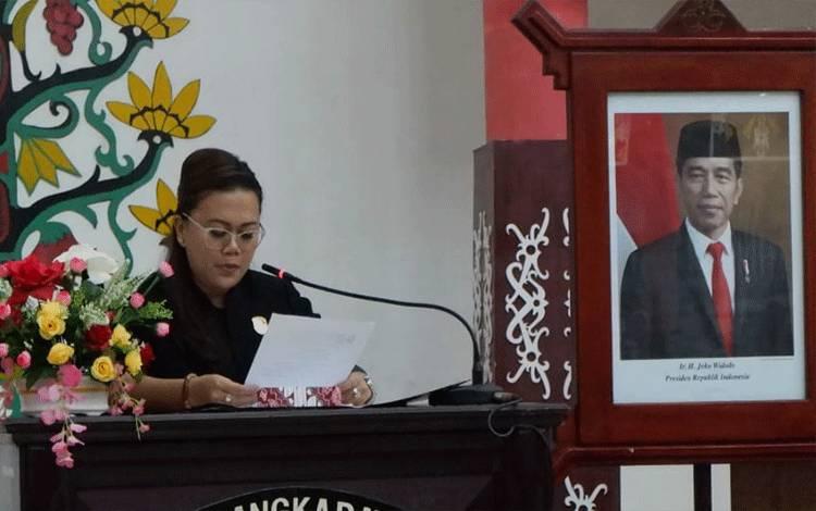 Wakil Ketua Komisi C DPRD Kota Palangka Raya Shopie Ariany