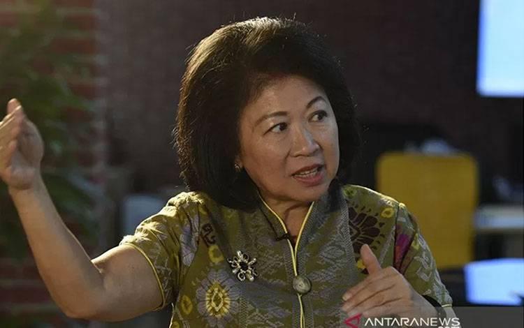 Direktur Pelaksana Bank Dunia untuk Kebijakan dan Kemitraan Pembangunan Mari Elka Pangestu. ANTARA FOTO/Saptono/aa.