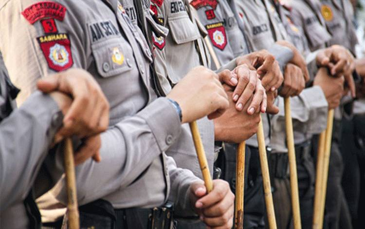 Ilustrasi Polisi Indonesia. Getty Images