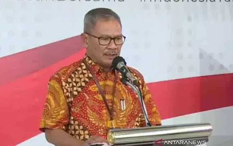 Juru Bicara Pemerintah untuk penanganan COVID-19, Achmad Yurianto, Rabu (1/4/2020). (ANTARA/Livia Kristianti)