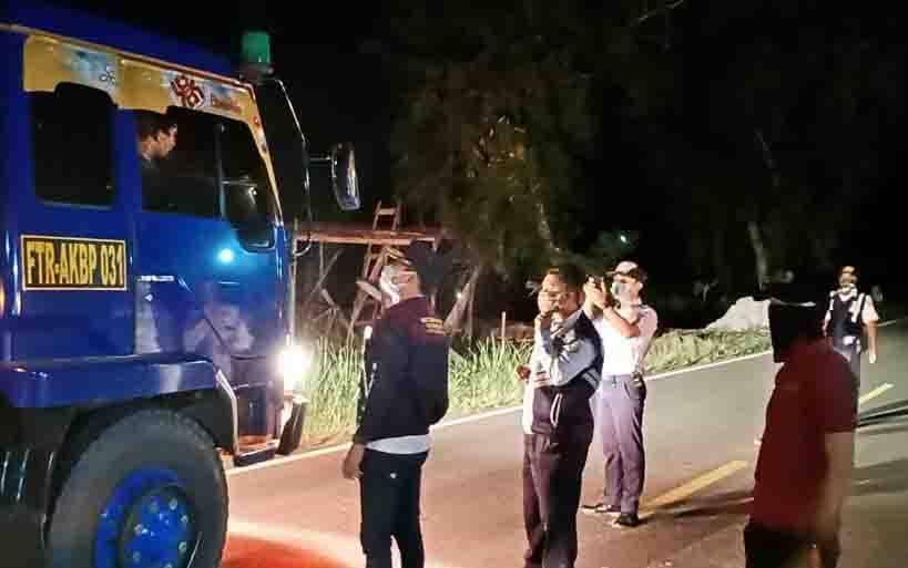 Razia kendaraan yang digelar Dinas Perhubungan Kota Palangka Raya bersama Gugus Tugas Penanganan Covid-19, Rabu, 1 April 2020 malam.