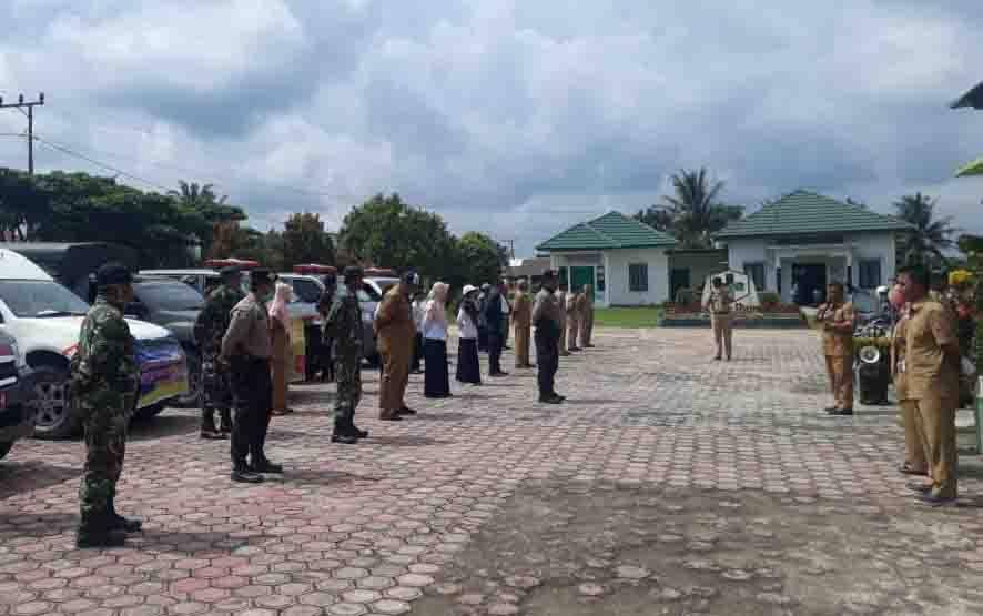 Apel gabungan pencegahan covid-19 di Kecamatan Kotawaringin Lama.
