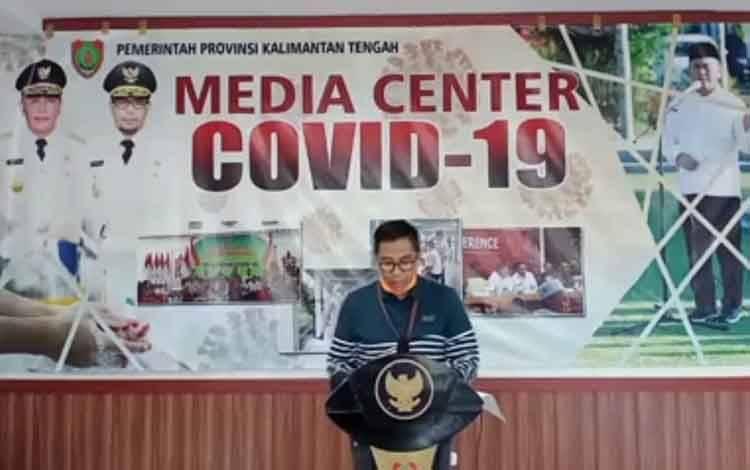 Jumpa pers Ketua Tim Gugus Percepataan Penanganan Covid-19 Provinsi Kalimantan Tengah, Leonard S Ampung, Kamis, 2 April 2020