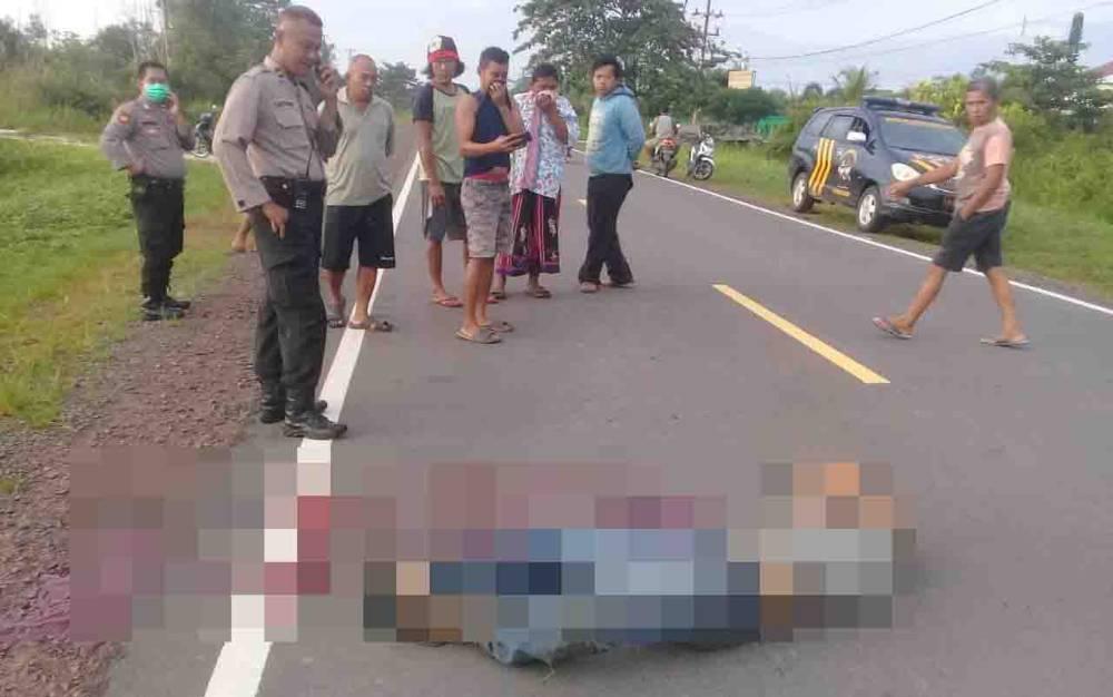 Penemuan mayat di Jalan Lingkar Utara Kotawarinign Timur.