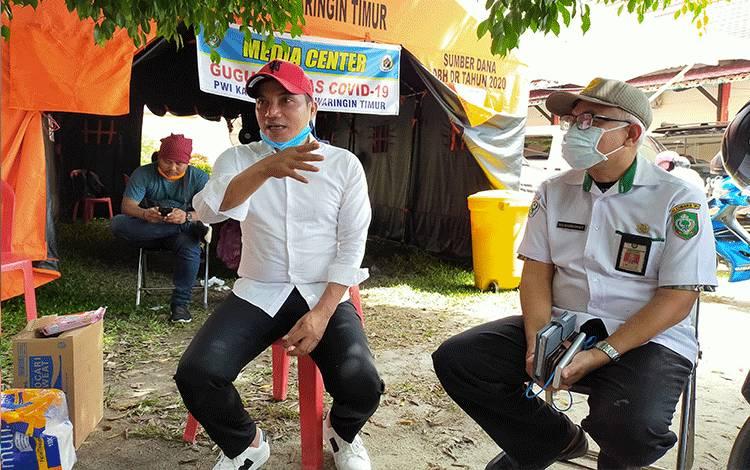 Bupati Kotim Supian Hadi mengatakan bahwa pihaknya belum berlakukan PSBB, Kamis, 09 April 2020.