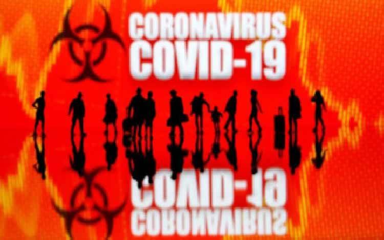 Ilustrasi virus corona atau Covid-19. REUTERS