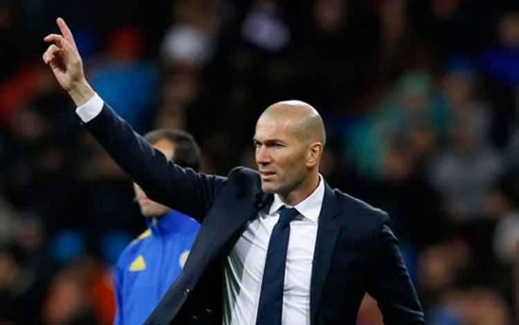 Pelatih Real Madrid, Zinedine Zidane. (foto : AP/Francisco Seco via teras.id)