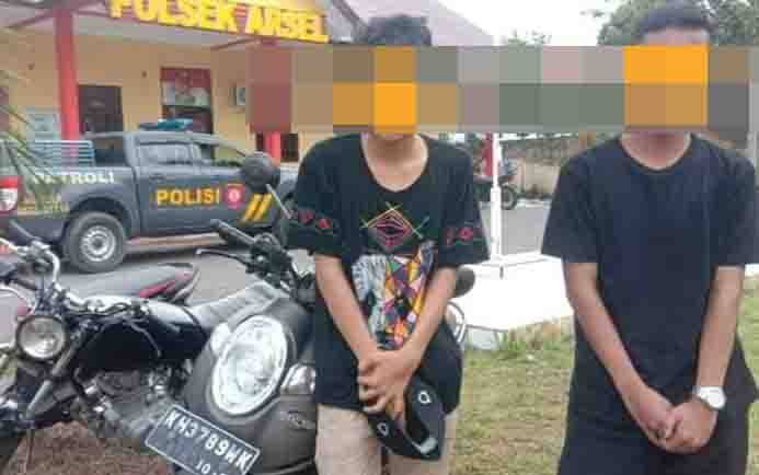 Remaja yang tertangkap balapan liar diamankan di Polsek Arut Selatan.
