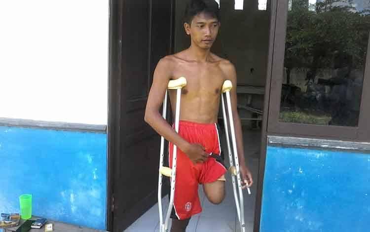Usman, salah seorang karyawan perusahaan kelapa sawit di Katingan Tengah sejak dua bulan ini berada di Kasongan