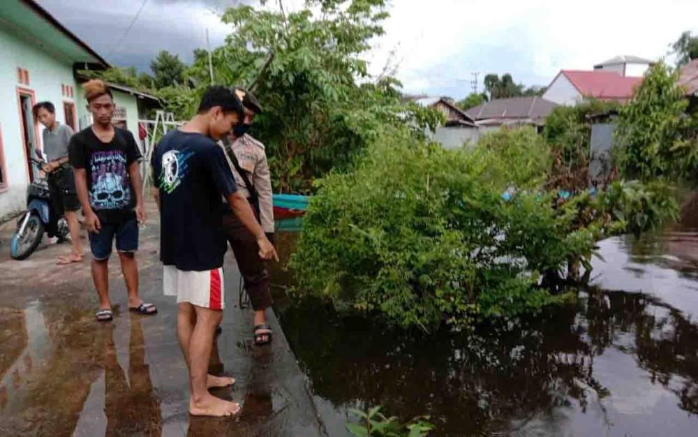 Lokasi tewasnya balita 1 tahun di Barito Selatan, Sabtu, 9 Mei 2020.
