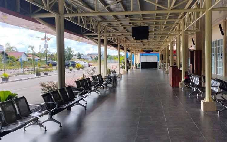 Kondisi Bandara H Asan Sampit, sementara, penerbangan penumpang kembali dibuka dengan persyaratan.