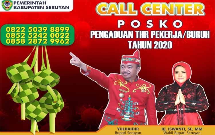 Call Center posko pengaduan THR bagi pekerja di Kabupaten Seruyan